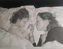 """love"" pencil drawing"