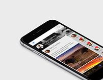 Social network - mobile app screens