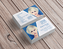 Business card design for hair salon