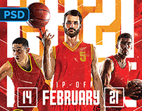 College Basketball Flyer - PSD Template