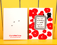 2015 Summer Greeting Cards -Hand screen-printed-