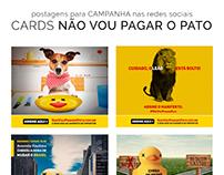 Cards da campanha Não vou Pagar o Pato