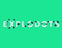 Explodots - animated typeface