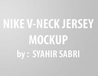 FREE MOCK UP - Nike V-Neck Jersey