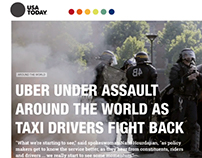 Diseño de diario web, Usa today