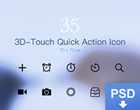 3D Touch Quick Action Menu Icon