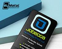 Textured Black Metal Business Card