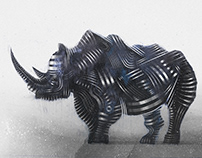 Synthesis of watercolor and digital art on animals