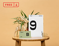 Free Cards on Table Mockup