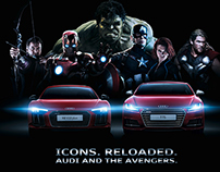 Audi and the Avengers Campaign Print