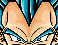 Vegeta Super Saiyan Blue Stickers