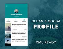 Social Profile UI (XML)
