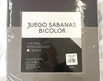 Packaging Sábanas Bicolor