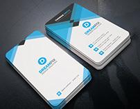 Vertical Business Card Template Design