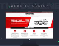 City Isuzu Automotive website design