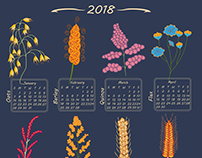 Spoonflower Calendar 2018 - Grains