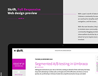 Skrift Magazine Responsive Redesign Preview