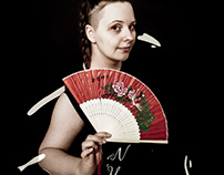 The Girl with Japanese Folding Fan