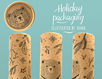 Holiday Packaging Doodles, by hand