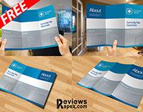 Eye-Catching Blank Tri Fold Paper Brochure Mockup FREE