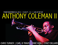 Anthony Coleman II Live in Concert Poster