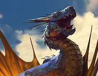 sunbathing dragon