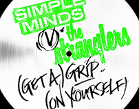 Simple Minds v The Stranglers Vinyl Single Lettering