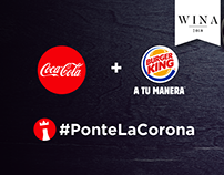Coca-Cola + Burger King: #PonteLaCorona
