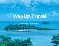 Web Design Landing Page. Travel to Thailand