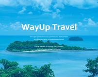 Web Design Landing Page. Travel to Thailand