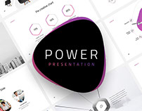 POWER - FREE MINIMAL POWERPOINT TEMPLATE