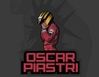 """ Oscar Piastri "" illustrated logo for contest"