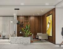 Hotel lobby _ concept design _ Sopot Poland 2019