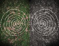 Spiral Owl Eyes. Olhos de Coruja Espiral. (Land Art)