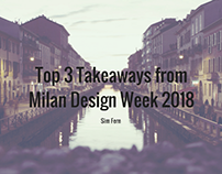 Top 3 Takeaways from Milan Design Week 2018