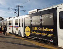 Smile Generation Ads - Denver Light Rail System