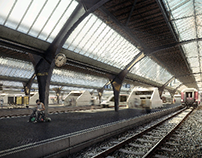 Zürich Main Station / Dürig AG, Cinema4d + Vray