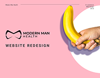 Modern Man Health - Website design