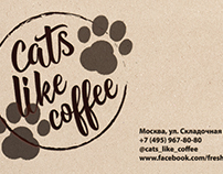 "Logo for cafe ""Cats like coffee"""