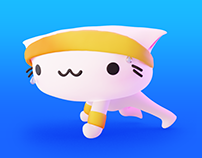 HIIT Workout Animations with Toshi the Cat!