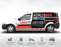 Lada Assistance Print and TV campaign