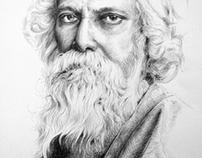 Pencil Drawing Rabindranath Tagore - 2013