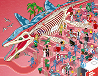 Wimmelbild illustrations for GEOlino magazine 2015