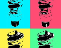 light bulb pop art