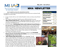 Monthly Mental Health Association Newsletter Layout