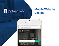 Mobile Website Design - UI/UX - RoofAndFloor.com