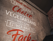 Lettering for Meat cafe