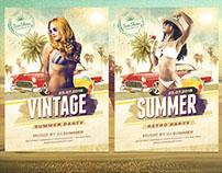 Vintage Summer Flyer Template