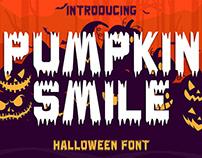 Free Pumpkin Smile Decorative Font