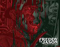 Freddy Vs. Jason Screen-Printed Poster